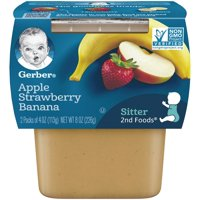 Gerber 2nd Fruits Apple Strawberry Banana All Natural 4oz 2PK