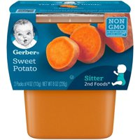 Gerber 2nd Vegetables Sweet Potatoes All Natural 4oz 2PK
