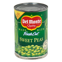 Del Monte Sweet Peas 15oz Can