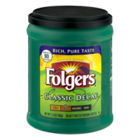 Folgers Coffee Classic Decaf 11.3oz Can or Brick