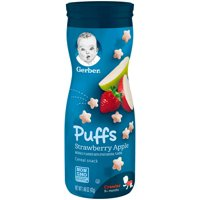 Gerber Graduates Puffs Strawberry Apple 1.48oz PKG