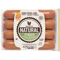 Oscar Mayer Selects Natural Turkey Franks 8Ct 16oz product image