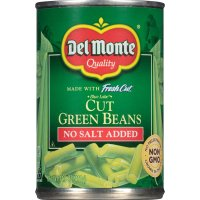 Del Monte Fresh Cut Green Beans No Salt Added 14.5oz Can product image