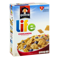 Quaker Life Cereal Cinnamon 18oz Box