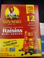 Sun Maid Raisins 12CT Mini Boxes 6oz PKG