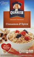 Quaker Instant Oatmeal Cinnamon & Spice 10PK 15.1oz Box