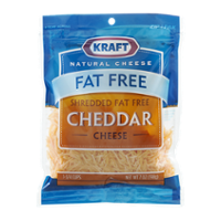 Kraft Fat Free Shredded Cheddar Cheese 7oz PKG