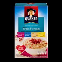 Quaker Instant Oatmeal Fruit & Cream Variety 8PK 9.8oz Box