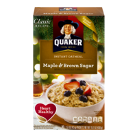 Quaker Instant Oatmeal Maple & Brown Sugar 10PK 15.1oz Box