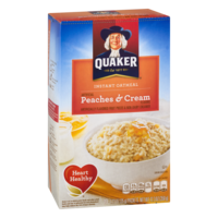 Quaker Instant Oatmeal Peaches & Cream 10PK 12.3oz Box product image