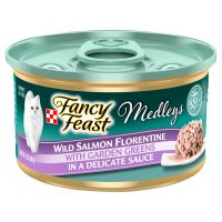 Fancy Feast Elegant Medleys Wild Salmon Florentine with Garden Greens 1CT 3oz