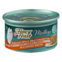 Fancy Feast Elegant Medleys Shredded White Meat Chicken Fare with Garden Greens 1CT 3oz Can