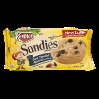 Keebler Sandies Dark Chocolate Almond Shortbread Cookies 14.5oz PKG