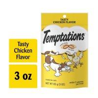Whiskas Temptations Cat Treats Tasty Chicken 3oz Bag