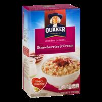 Quaker Instant Oatmeal Strawberries & Cream 10PK 12.3oz Box