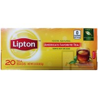 Lipton Tea Bags 100% Natural 20CT