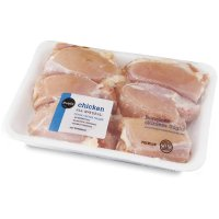 Store Brand Chicken Thighs Skinless Bone In 4-6CT Approx 2LBS