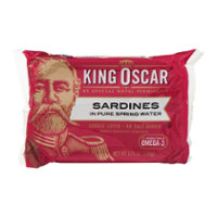 King Oscar Finest Norwegian Sardines in Spring Water 3.75oz PKG