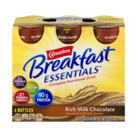 Carnation Instant Breakfast Essentials Drink Rich Milk Chocolate 6PK of 8oz BTLS