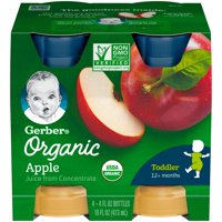 Gerber Organic 100% Apple Juice 4PK 4oz EA