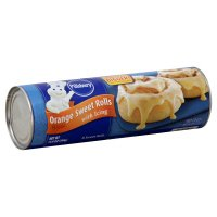 Pillsbury Sweet Rolls Orange Flavor with Icing 8CT 13.9oz PKG product image
