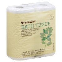 Store Brand Bath Tissue Double Roll Recycled 4CT PKG