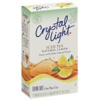 Crystal Light On The Go Packets Iced Tea With Natural Lemon 10CT PKG