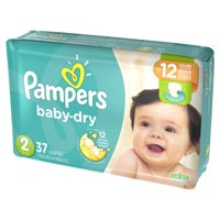 Pampers Baby Dry Diapers Size 2 (12-18 LB) Jumbo Pack 37 CT PKG