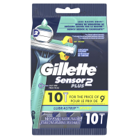 Gillette Sensor 2 Plus (Pivot) Disposable Razors 10CT PKG product image