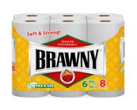 Brawny Paper Towels 2-Ply White Big Rolls 6CT