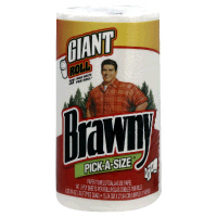Brawny Pick-A-Size Paper Towels White Giant Roll 1CT