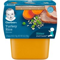 Gerber 2nd Foods Turkey and Rice Nutritious Dinner 4oz 2PK