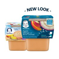 Gerber 2nd Foods Apples & Mangos with Rice Cereal 3.5oz 2Pack product image