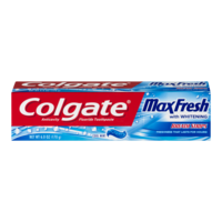 Colgate Max Fresh With Whitening Mini Breath Strips Cool Mint Toothpaste 6oz PKG