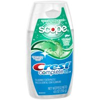 Crest Complete Whitening plus Scope Minty Fresh Liquid Gel Toothpaste 4.6 oz
