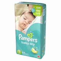 Pampers Baby Dry Size 1 (8-14LB) Jumbo 44CT PKG