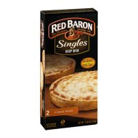 Red Baron Deep Dish 4 Cheese Singles Microwave Pizza 2CT 11.2oz Box