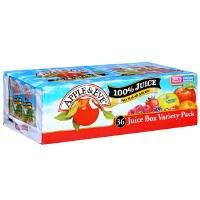 Apple & Eve 100% Juice Box Variety Pack 6.75oz EA 36CT