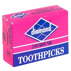 Diamond Toothpicks 250 Square - Round Tip