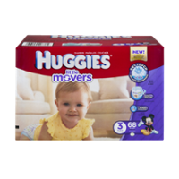 Huggies Little Movers Diapers Size 3 (16-28LB) 68CT PKG