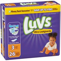 Luvs Diapers Size 3 (16-28LB) Jumbo Pack 34CT PKG