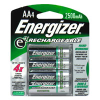 Energizer  Rechargable Batteries Size AA 4CT