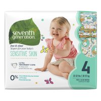 Seventh Generation Diapers Size 4 (22-37LB) 27CT PKG