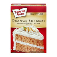 Duncan Hines Moist Deluxe Orange Supreme Cake Mix 16.5oz Box