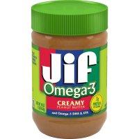 Jif Peanut Butter Creamy Omega 3 16oz Jar