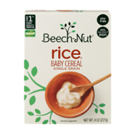 Beech-Nut Baby Cereal Single Grain Rice 8oz PKG