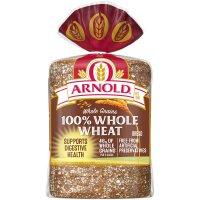 Arnold Whole Grains Bread 100% Whole Wheat 24oz PKG product image