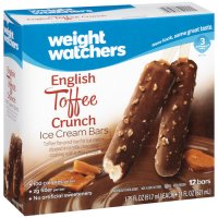 Weight Watchers Ice Cream Bars English Toffee Crunch 12CT 21oz Box