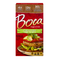 Boca Burgers Original Vegan 4CT 10oz Box
