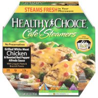 Healthy Choice Cafe Steamers Chicken Linguini & Red Pepper Alfredo 10.3oz PKG